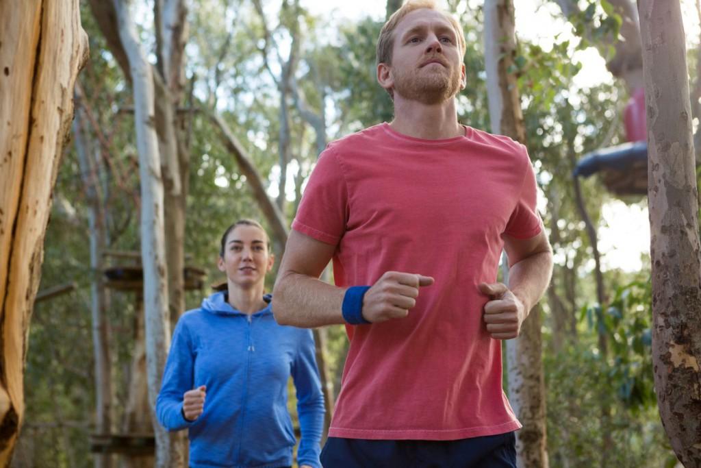 jak biegać w lesie